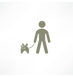 walk the dog icon vector image