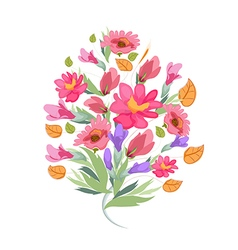 Watercolor Bouquet of Flowers vector image