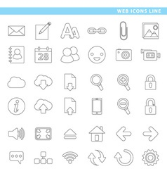 Web icons line vector