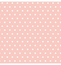 White polka dots on a pink background Seamless vector image