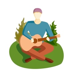 Guitar song vector