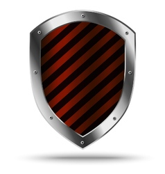 Classic metal shield protection or hazard symbol vector