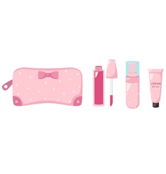 Cosmetics bag one vector