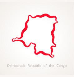 Outline map of democratic republic of the congo vector