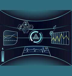 interface of virtual reality vector image