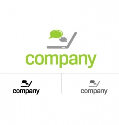 logo for dating chat site vector image