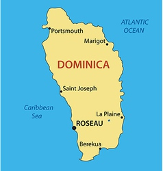 Commonwealth of dominica - map vector