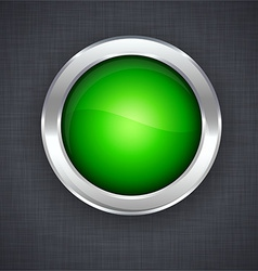 Glossy 3d green button vector