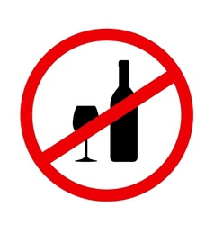 Round sign stop alcohol vector