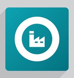 Flat factory icon vector