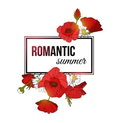 Shining romantic summer typographical background vector