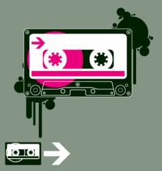 audio tape old school vector image