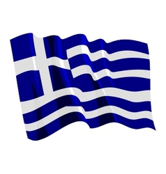 Political waving flag of greece vector