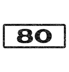 80 watermark stamp vector