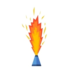 Pyrotechnics and fireworks icon vector