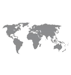 abstract world map with black parallel lines vector image
