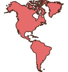 America continent icon vector