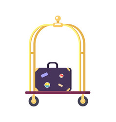 bellman s cart with bag icon vector image vector image