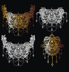 boho ornamental lotus flower vector image