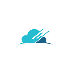 cloud data technology logo vector image vector image
