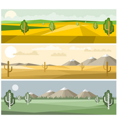 Colorful landscapes nature vector