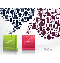 Conceptual background with fashion vector image vector image