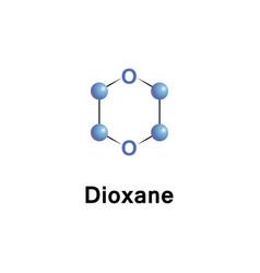 Dioxane is a heterocyclic organic vector