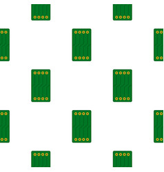 Green circuit board pattern flat vector