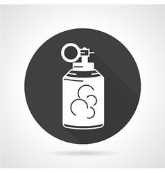 Grenade black round icon vector