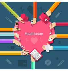 Healthcare flat concept vector image vector image