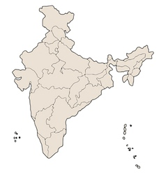 india states map vector image vector image