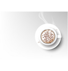 Isolated cup of coffee collection cappuccino vector