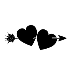 Isolated heart and arrow of love concept vector