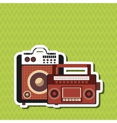 Music icon Retro concept Flat vector image