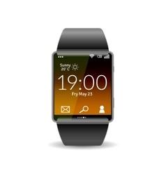 Realistic smart watch vector