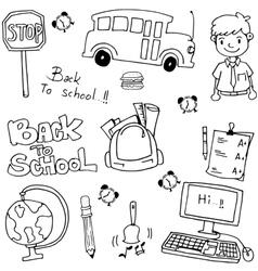 School education doodles art vector image