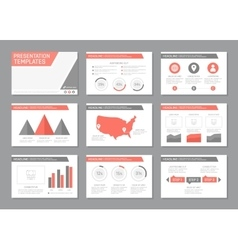 Set of red and gray template for multipurpose vector