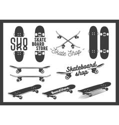 set of skateboard emblems labels badges vector image vector image