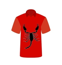 T-shirt with the image of Scorpio vector image vector image