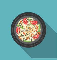thai food som tam papaya salad vector image
