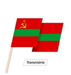 Transnistria ribbon waving flag isolated on white vector