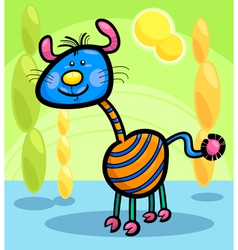 Cartoon funny fantasy creature vector