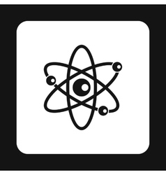 Atom with electrons icon simple style vector