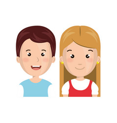 cute little kids character vector image
