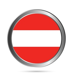 Austria flag button vector
