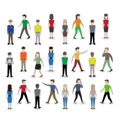 People pixel avatars vector image