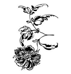 flower black white vector image