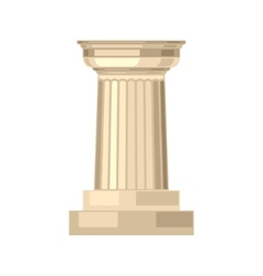 Doric realistic antique greek marble column vector