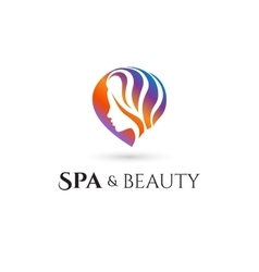 Spa and Beauty company logo vector image