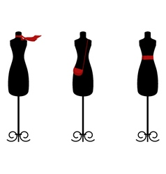 Isolated fashion trio on white vector